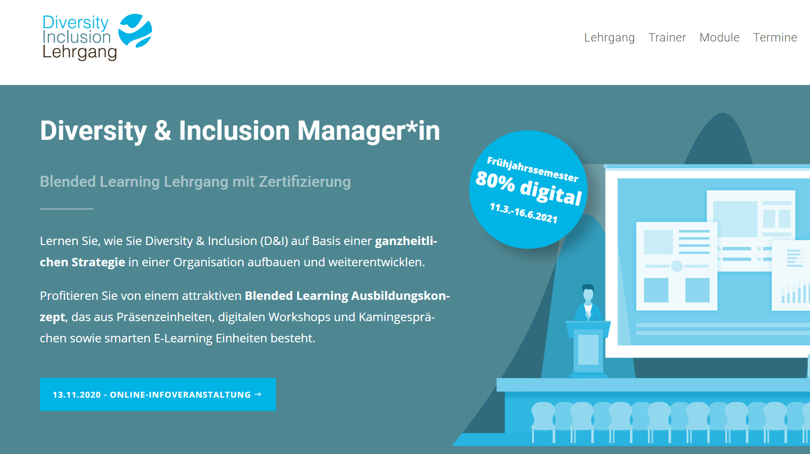 Diversity Lehrgang Website